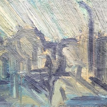 'Southend Green' (1984). Oil on Board. 107cm x 134cm. POA