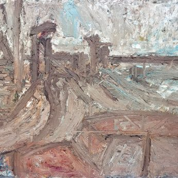 'View from the Jubilee Pool' (1989). Oil on Board. 107cm x 152cm. POA