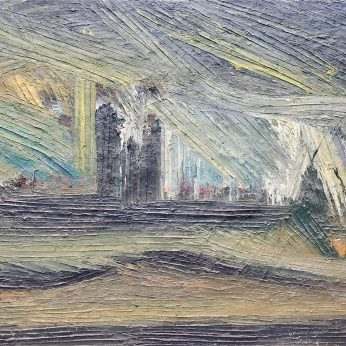'View of London from Parliament Hill' (1983). Oil on Board. 92cm x 122cm. POA