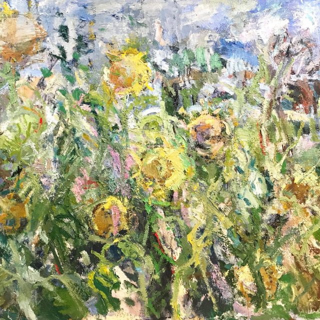 'Sunflowers' (2016). 122cm x 152cm. Oil on Canvas. POA