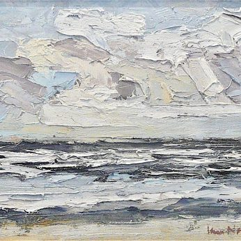 'Formby Sands: Winter Light II'(2012). Oil on Board. 23cm x 29cm. POA