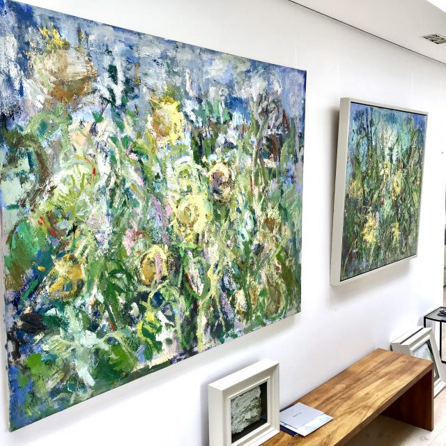 'Sunflowers' (2016 - SOLD) and 'Sunflowers III' (2016).