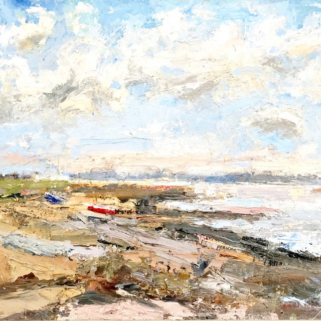 'Blustery Day: Lytham St. Annes' (2012) 41cm x 51cm. Oil on Board. RESERVED