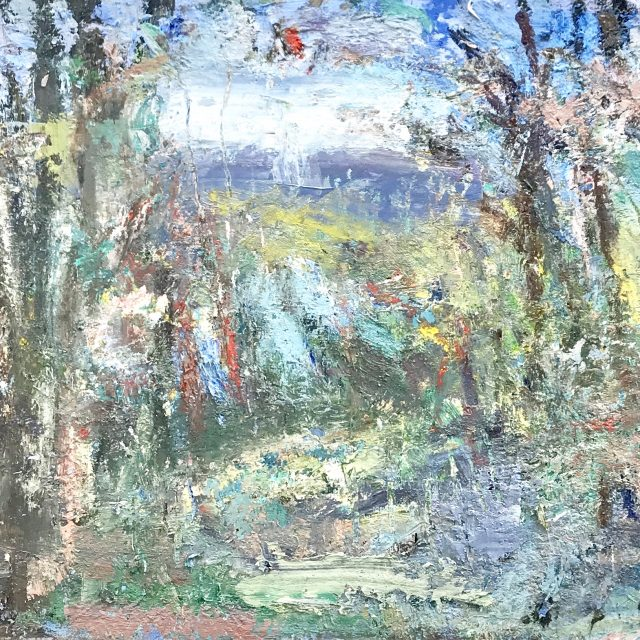 'Across the River from the Studio - Winter' (2017). 47cm x 61cm. Oil on Board. POA
