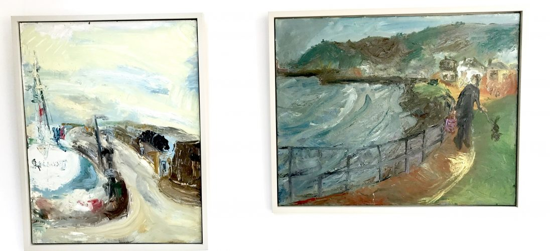 'Sallou III'. 122cm x 92cm. Oil on Board. POA and 'Along the Seafront, Newlyn.' 100cm x 126cm. Oil on Board. POA